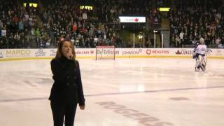 Stephanie Beaumont performs US & Canadian National Anthems