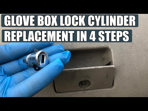 VW Golf Mk4, Jetta, Bora glove box lock cylinder (latch) removal / replacement in 4 steps