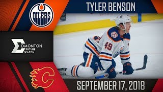 Tyler Benson | One Assist vs Calgary | Sep. 17, 2018