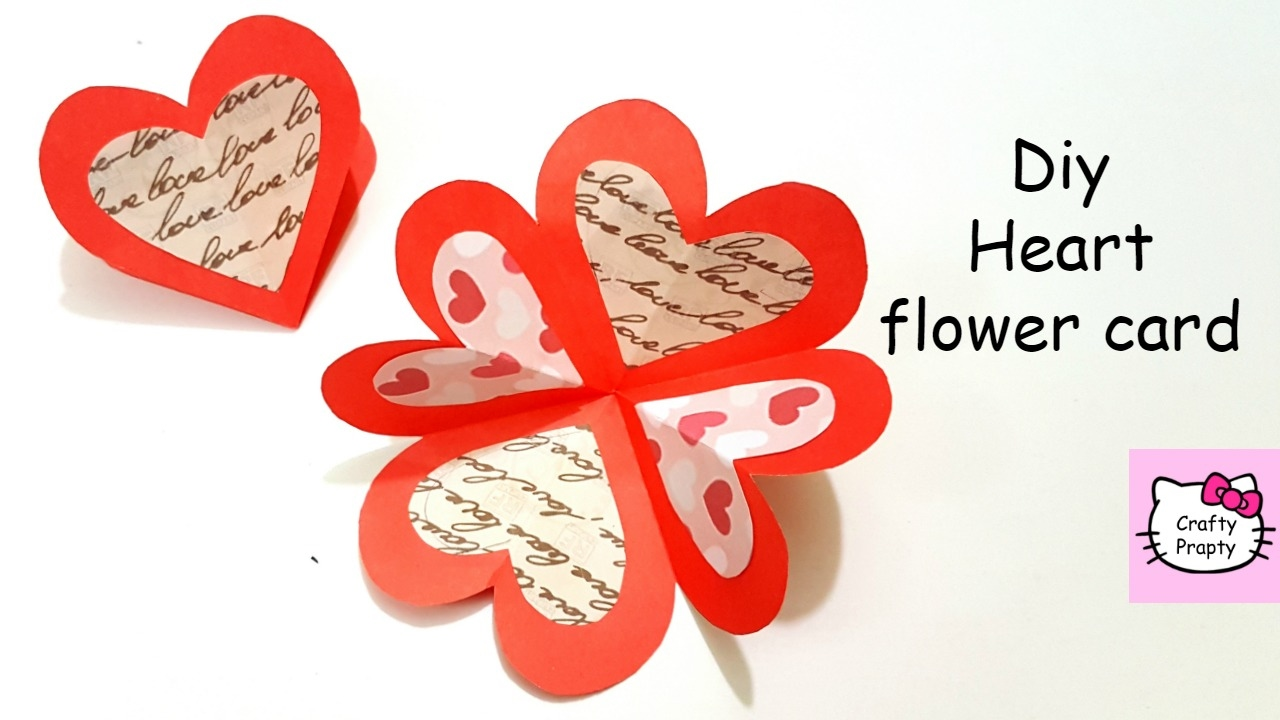 DIY Heart Flower CardDIY Handmade CardTutorial For