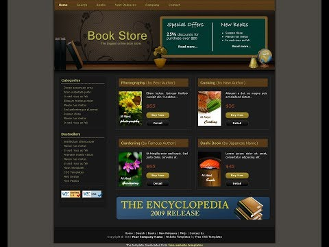 How To Create Template Book Store In HTML & CSS?