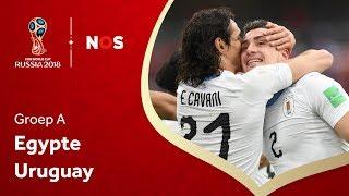 WK voetbal 2018: Samenvatting Egypte - Uruguay (0-1)