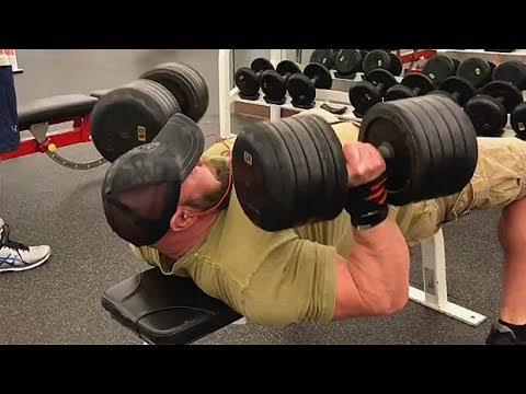 Dumbbell Bench Press Drop Set