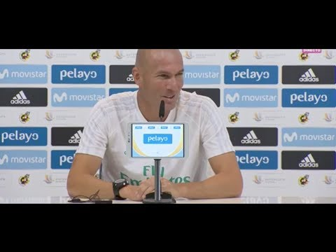 Rueda de prensa de Zidane | Barcelona | Supercopa de España | Ida