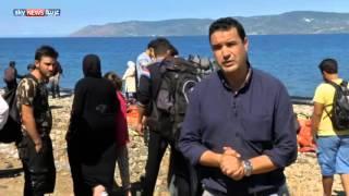 لاجئون سوريون يتجهون لليونان بحرا