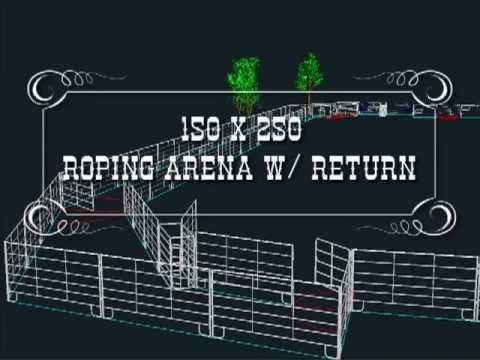 Roping Arena Layout Youtube