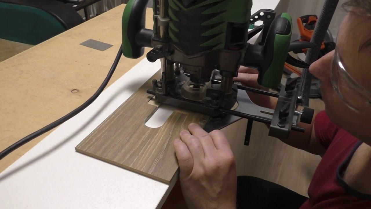 Как сделать отверстие с помощью фрезера