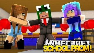 Minecraft SCHOOL PROM - GIRLS FIGHT OVER LITTLE LIZARD  - donut the dog minecraft roleplay