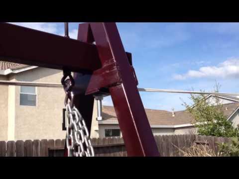 Making a metal swing set part 2