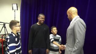 "Boris Kodjoe interacts with children at the ""My Brothers Keeper"" event (Phoenix)"