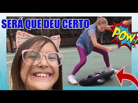 MINHA MÃE ANDANDO A PRIMEIRA VEZ NO MEU HOVERBOARD NOVO - SKATEBOARD