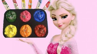 how to make frozen paint for kids glitter frozen paint for toddlers preschool children learning