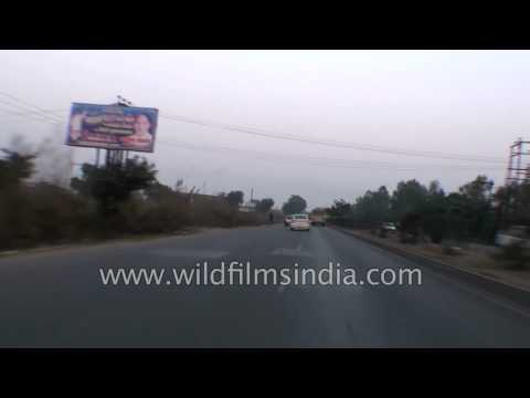 Driving on National Highway 24 (NH24) :from Hapur towards Muradabad
