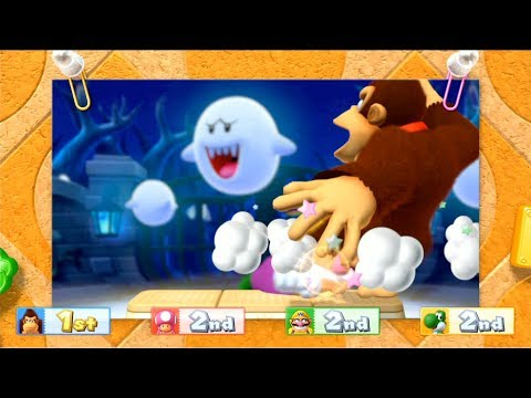Mario Party 10 - Coin Challenge (2 Player - Who is win?) Toadette vs DK vs Yoshi vs Wario #40