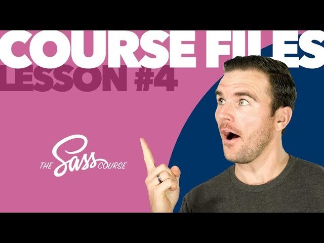 [#4] Download The Course Files (Learn Sass)