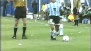 Maradona vs Nigeria in 94 World Cup