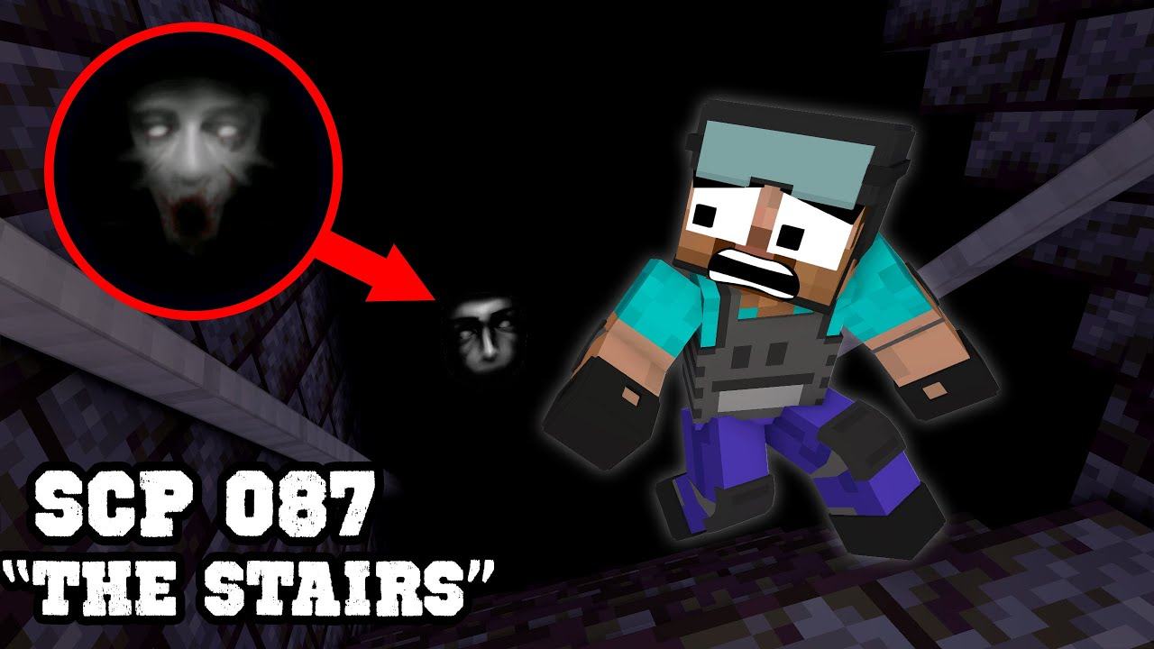 "Escape from SCP 087 ""The Stairs"" - Horror Minecraft Animation"