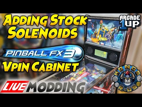 Adding Stock Solenoids to Arcade1Up Star Wars Pinball FX3 Mod - LIVE Modding Session from Kongs-R-Us