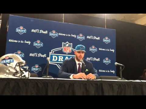 Taylor Decker Detroit Lions 2016 NFL Draft 1st Round Pick Interview #NFLDraft