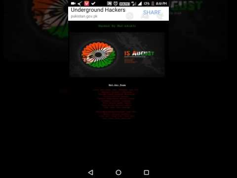 Pakistan Official website hacked by Indians