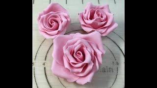 как сделать розу из мастики в домашних условиях