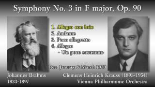 Brahms: Symphony No. 3, Krauss & VPO (1930) ブラームス 交響曲第3番 クラウス