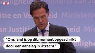 AANSLAG UTRECHT: Persconferentie Rutte
