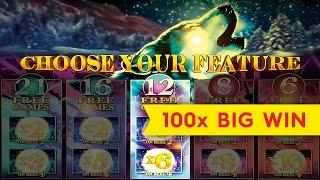 Timber Wolf Deluxe Slot Machine 100X *BIG WIN* $5 Max Bet Live Play Bonus!