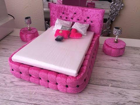 DIY Barbie Dolls Princess Bed
