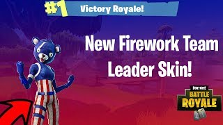 *NEW* FIREWORKS TEAM LEADER Skin Gameplay! - Fortnite Battle Royale