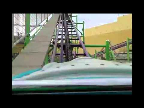 Cyclone Roller Coaster front seat POV Freij Fun Fair City Lebanon
