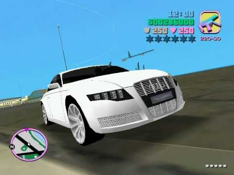 GTA Vice City Car Mods: Audi Nuvolari Quattro + cam hack (link in description)