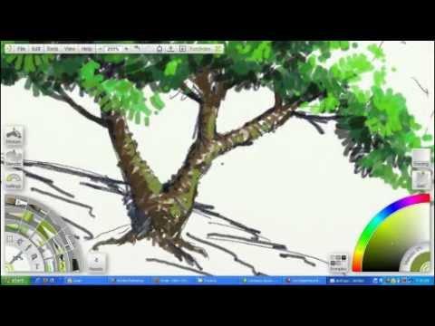 Tree Digital Speed Painting Youtube