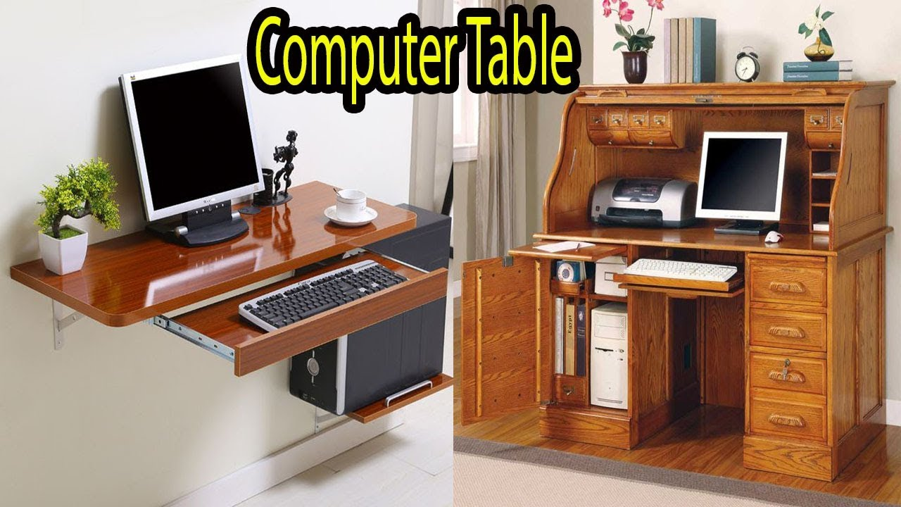 Amazing Computer Table Design Ideas For Office U0026 Home | Wooden Table For Computer