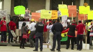 Africans Protest Against Their Leaders In Washington DC