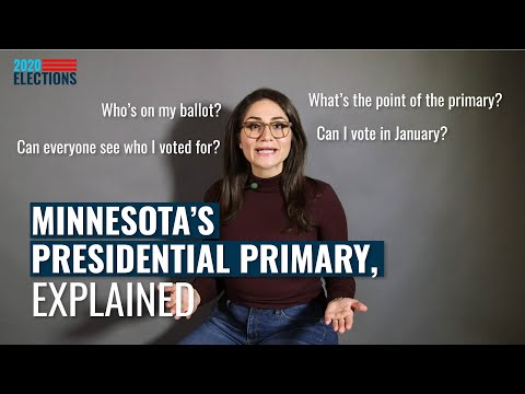 Election 2020: Minnesota's Presidential Primary, Explained