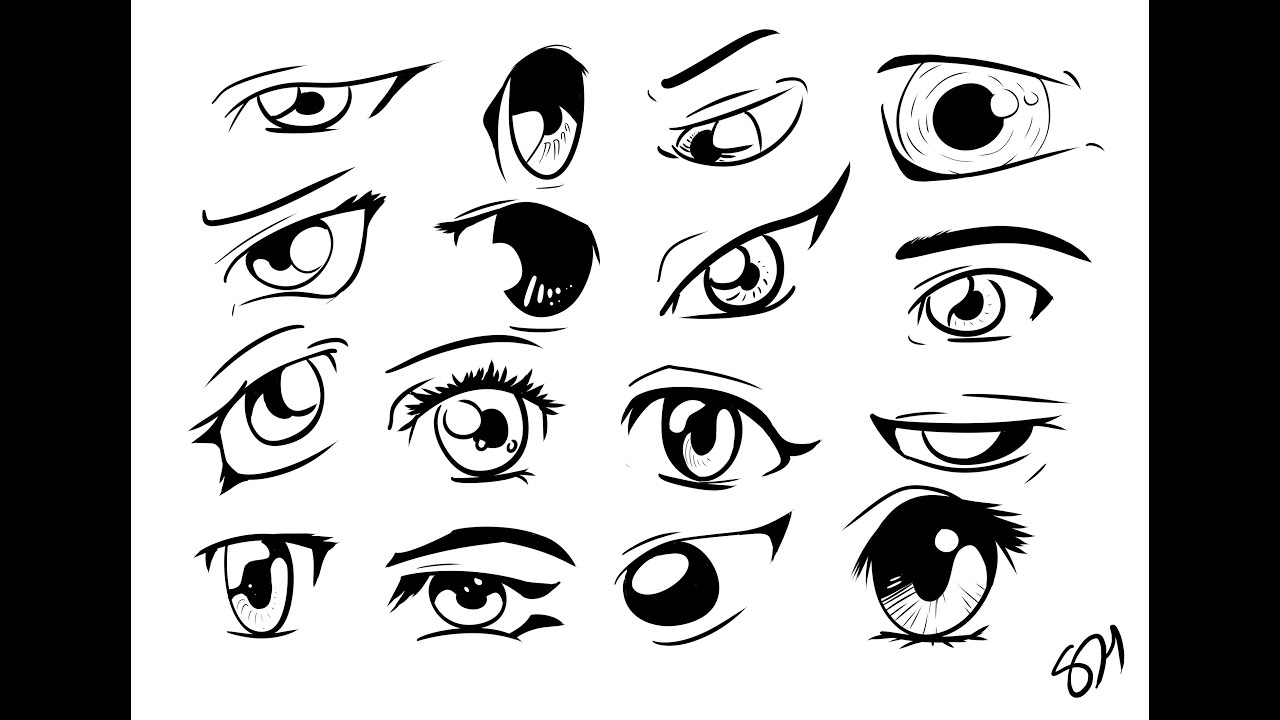 manga eye coloring pages - photo#22