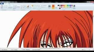 drawing kenshin himura samurai x (ova) en paint