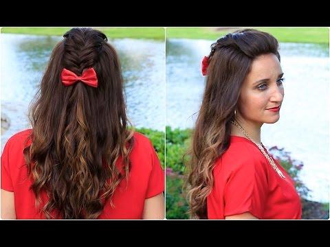diy woven faux hawk  cute girls hairstyles  youtube