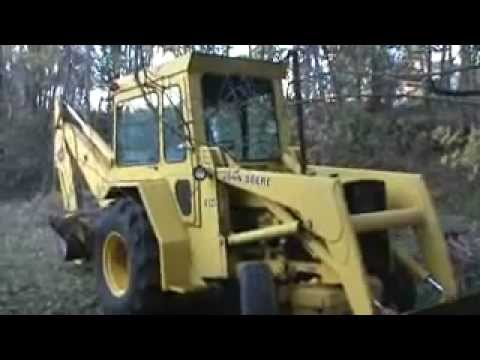 old john deere 410 backhoe - YouTube