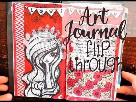 Art journal flip through - 1 month - Traveler's journal size