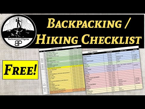 Free Backpacking And Hiking Checklist!