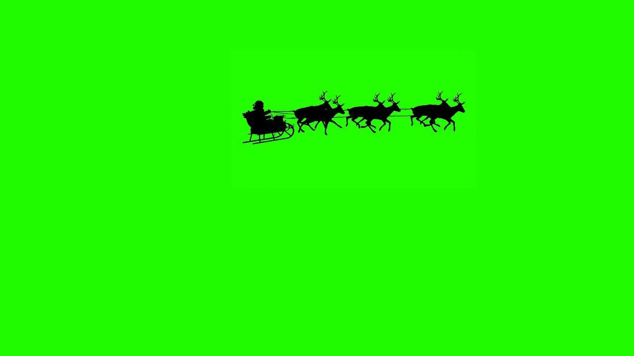 Christmas Green.Santa Flying By Green Screen Effect Christmas Green Screen Effects