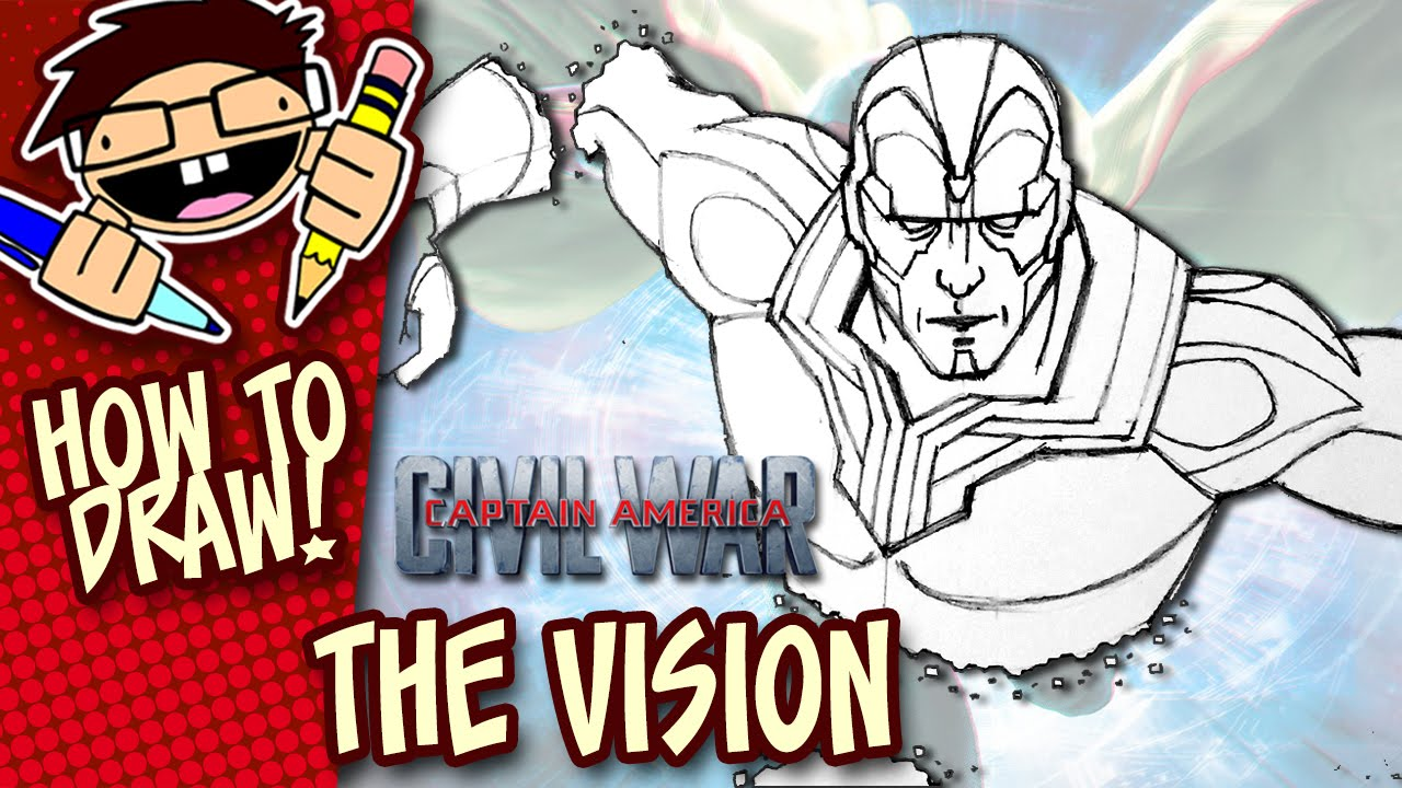 How To Draw The Vision Captain America Civil War Step By Step