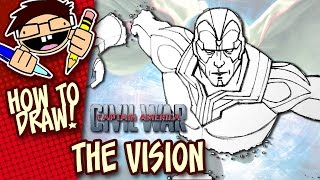 How to Draw THE VISION (CAPTAIN AMERICA: CIVIL WAR) Step-by-Step Drawing Tutorial