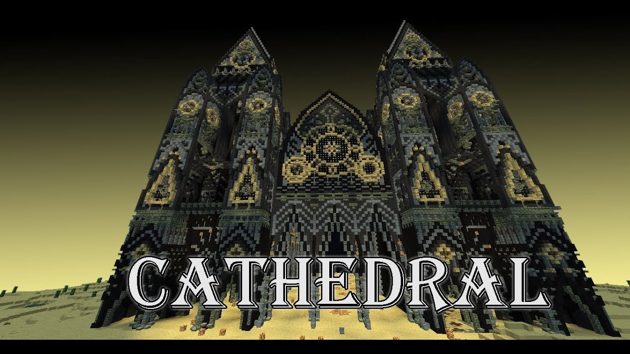 Minecraft Cathedral With Schematic And Download Youtube