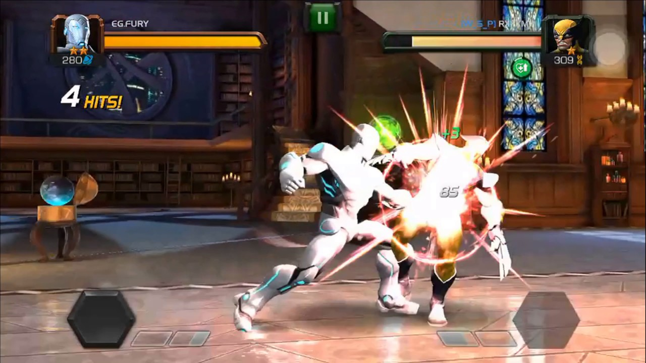 Download Super Iron Man vs Wolverine - 2 Star vs 1 Star - 280 vs 309 - 3 vs 3 - Marvel Contest of Champions