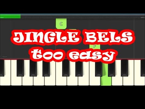 Jingle Bells Slow Easy Piano Notes - Right Hand