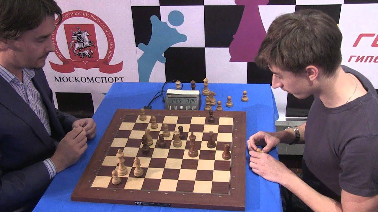 2015-09-06 GM Morozevich - GM Dubov ENDGAME BLITZ Moscow chess EGF 02 *09 -  YouTube
