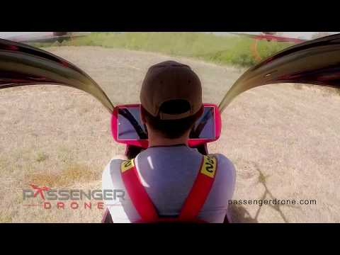 Passenger Drone First Manned Flight